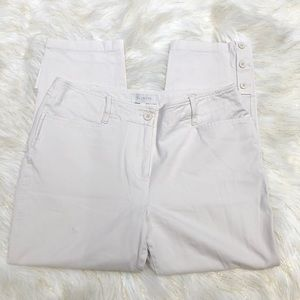 Talbots Tan Curvy Cropped Pants 10